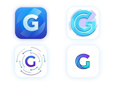 Gratus Icon Exploration colors blue logotype logo g letter iphone app mobile icon ios