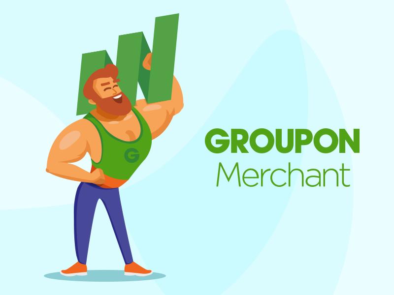 Strong Man art sport flat vector illustration 2d merchant groupon strong man design character