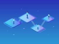 Networking Isometric Illustration