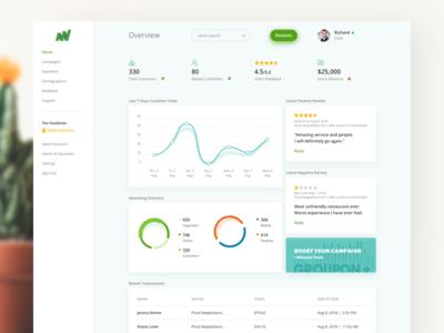 Merchant Center Web App Concept minimal clean analytics data desktop web app chart b2b design ux ui