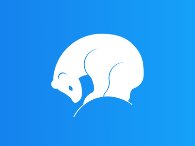 Polar Bear Logo flat icon vector logo design bear polar bear blue white minimal branding design minimalistic illustration logotype logo