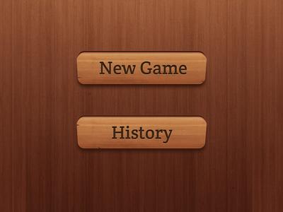 Wooden Buttons (2x)