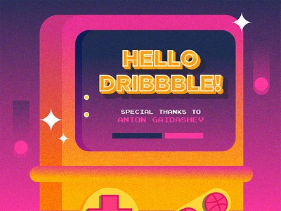 Hello Dribbble! artph game art dribbble gameboy dribbble invite design game videogame invite gameboy hello dribbble illustration