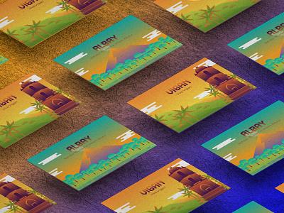 Philippine Tourist Spots (Vigan and Albay) Postcards city graphic design illustration design scenery landscapes drawing digital art pinoy filipino artph art poster tourism illustration greeting card postcard philippines albay vigan
