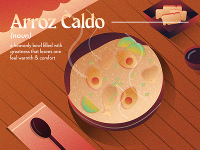 Arroz Caldo shapes digital digital illustration illustration pinoy art ph artph filipino food filipino pinoy food digital art food eat egg chicken soup porridge lugaw arroz arroz caldo