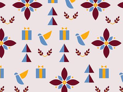 Christmas Gift Wrapper Pattern designer pattern designer print design textile print artph pattern art digital design holiday art holiday season christmas art christmas design flowers shapes vector art textile pattern surface art surface design pattern pattern design