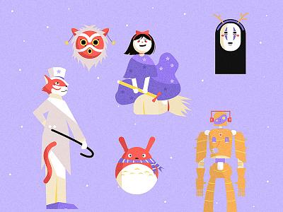 Happy Holidays Studio Ghibli Version (Fan Art) gfxmob anime fan art studio ghibili digital illustration art illustrator holidays shapes character designer character art character design character illustration digital art artph
