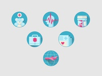 Icons for a Medical Company