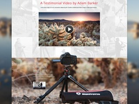 Manfrotto Tripod Landing Page