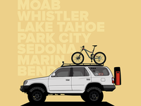 Toyota 4runner Illustration