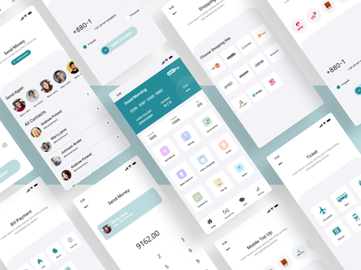 Payment App Design design graphic design payment application design layout minimal ui  ux product design payment app user interface design user experience mobile app mobile ui mobile app design