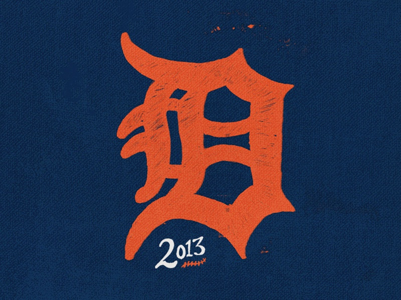 Tigers Baseball detroit tigers hand drawn opening day