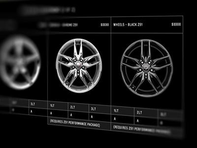 Corvette Specs corvette specs wheels tables grid