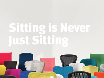 Herman Miller Performance Seating Microsite chairs herman miller website typography design