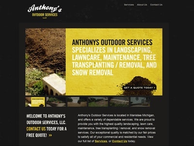 Anthony's Outdoor Services outdoor services michigan lanscaping web design dirt