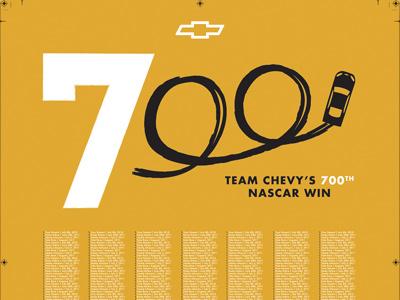 Team Chevy 700 Wins team chevy nascar 700 racing cars chevrolet