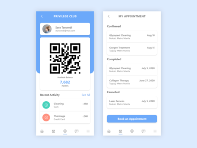 Loyalty App ux app design mobile app design uidesign ui