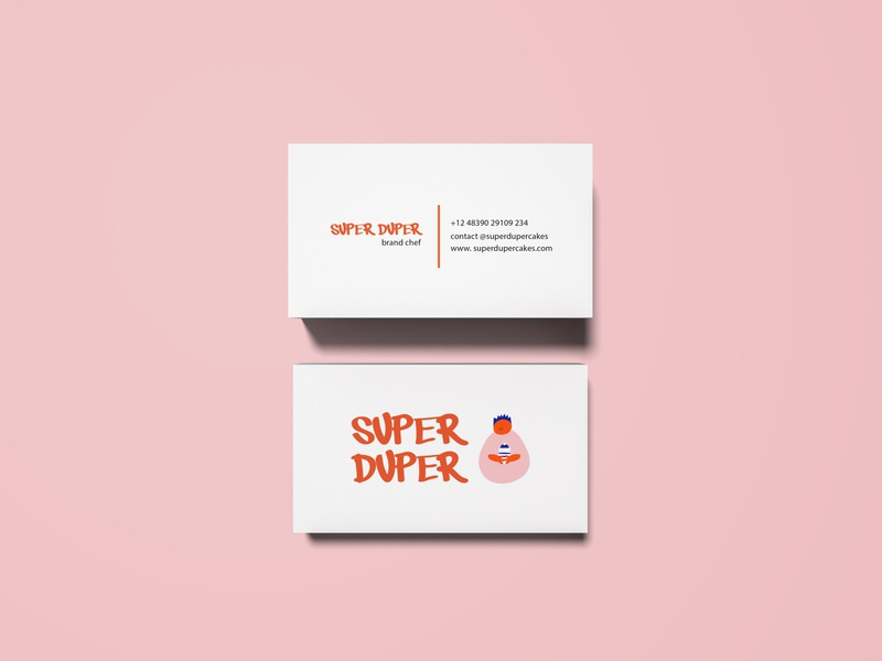 Identity for confectionery Super Duper card design illustrations illustrator identity branding vector card buisness card illustration design branding