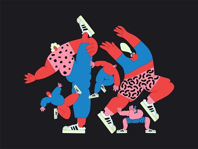 Adidas superstar lovers adidas originals superstar dancer dancers characters character characterdesign illustrator illustrations illustration design