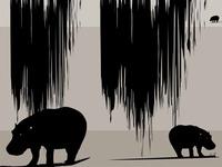 Hippos print