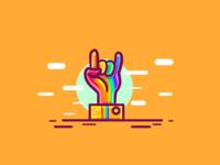 Be Yourself pride digital art ui design logo illustration illustrator