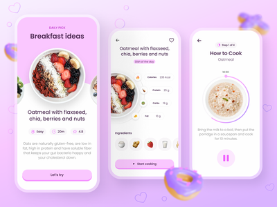 Healthy Eating App design healthy eating weight tracker lifestyle food tracker health app nutrition food recipes food app food eating app cooking app calories tracker calories mobile app ui