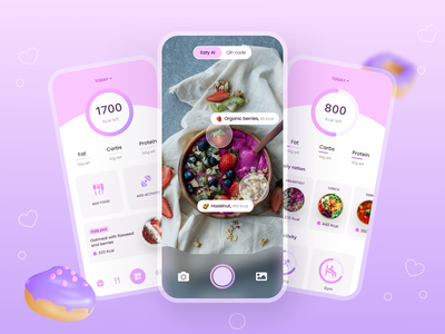 Healthy Eating App sport app fitness app healthy eating weight tracker lifestyle food tracker health app nutrition design food recipes food app food eating app cooking app calories tracker calories mobile app ui