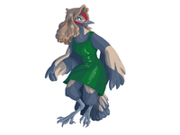 Commission anthro 2 bird furry anthropomorphic cartoon illustration art illustration anthro