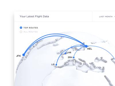 Flight Data Visualization UI pilot airline route airplane map flight map route map map ui