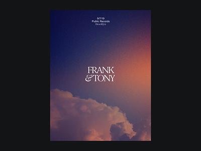 Frank & Tony - Poster Option 2 dreamy grain poster design poster