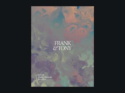 Frank & Tony - Poster Option 3 liquid poster art poster poster design