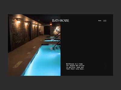 Bathhouse Preloader + Hero hero principle animation preloader minimal clean