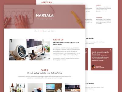 Template portfolio color Marsala