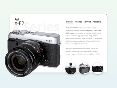 UI simple card Fuji camera