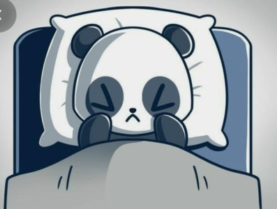 panda who is having an allergy attack