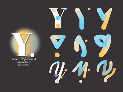Y Inspired Logo branding typography minimal logo design logo illustrator gradient design alphabet