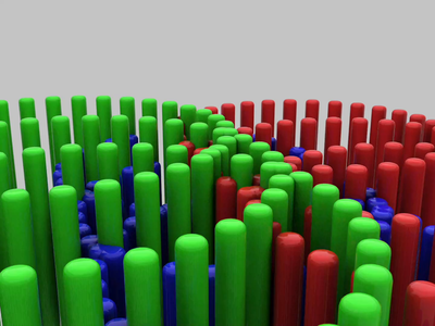Sticks animated animation c4d cinema 4d simulation 3d