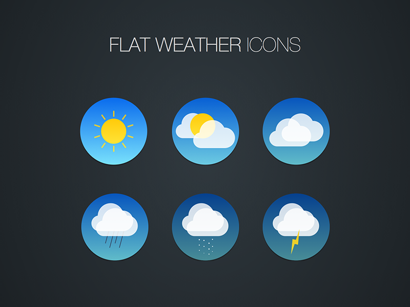 Flat weather icon freebie