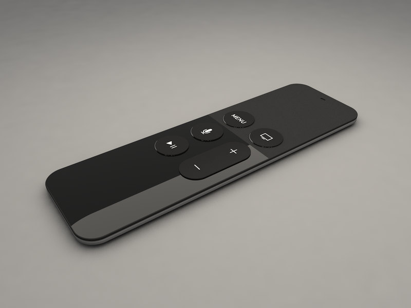 Apple TV Remote | Cinema 4D remote apple tv 3d model 3d cinema cinema 4d cinema4d design