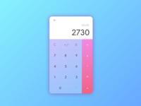 Daily UI challenge #004 - Caculator