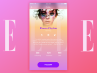 Daily UI challenge #006 Profile