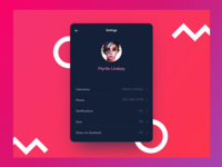 Daily UI challege_007 Setting