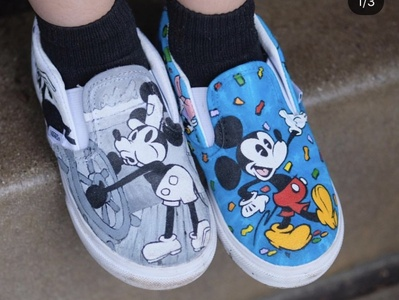 Custom painted Mickey Shoes