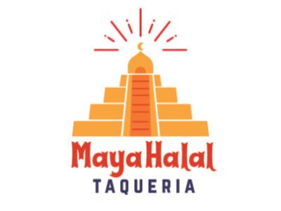 Maya Halal Taqueria (rejected design) concept digital graphicdesign graphic logodesign taqueria halal restaurant food art vector illustration design logo design logo