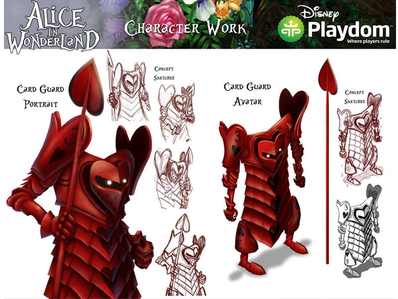 alice in wonderland cardguard avatar by rehana khan