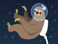 Eat24 404 Page - Space Sloth
