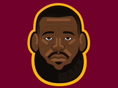 Sad Lebron illustration vector sketch loss jr finals game basketball cavaliers james lebron sad