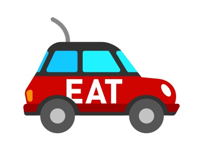 Eat24 delivery car