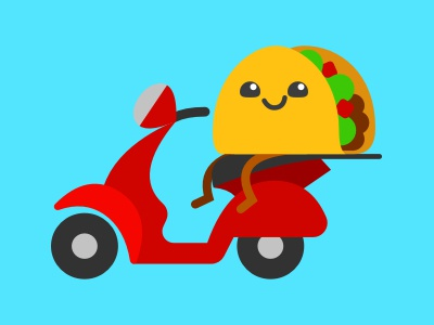 Eat24 delivery driver taco