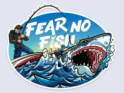 Fishing Sticker - Fear no fish